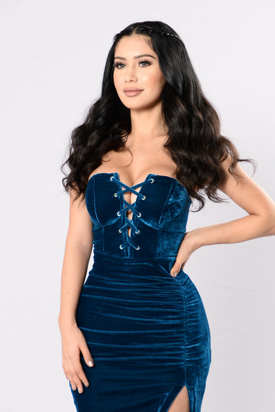 Fly Me To The Moon Dress - Teal