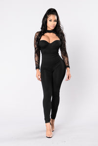 Love Is Blind Jumpsuit - Black
