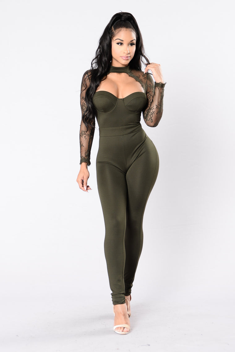 Love Is Blind Jumpsuit - Olive