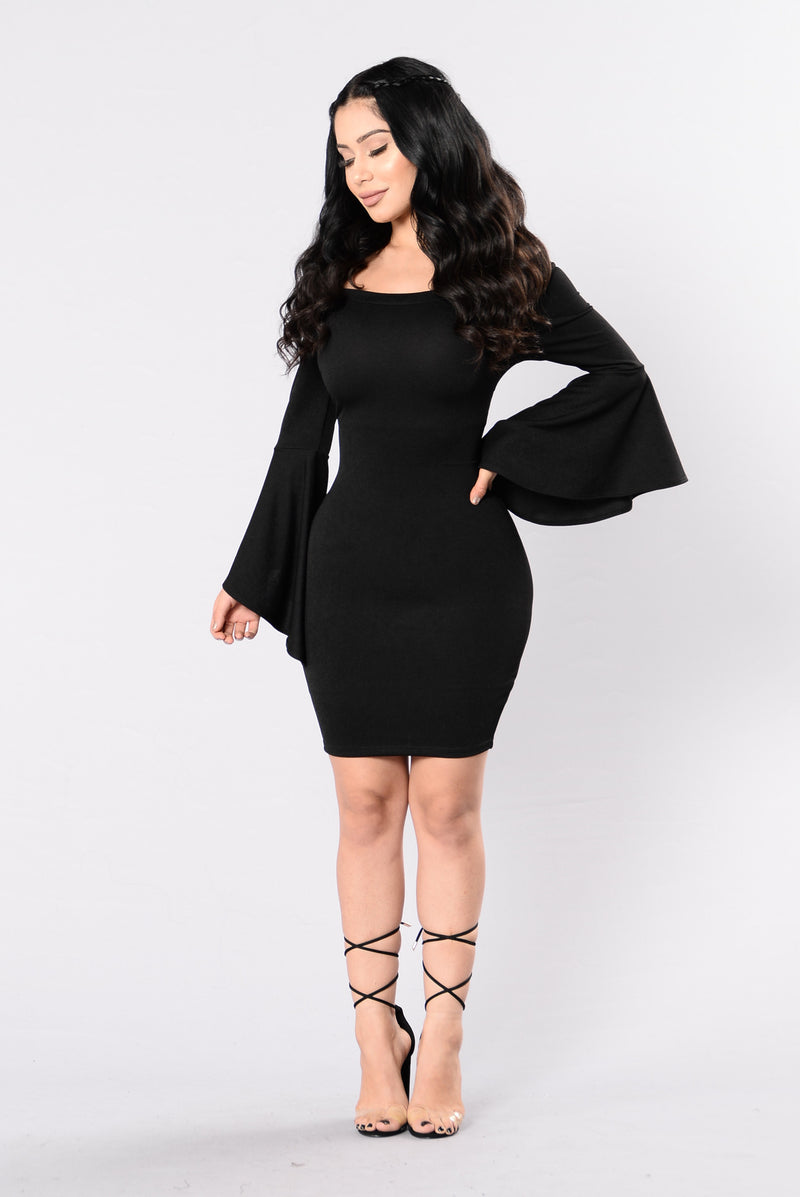 Clap Back Dress - Black