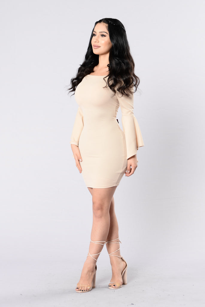 Clap Back Dress - Taupe