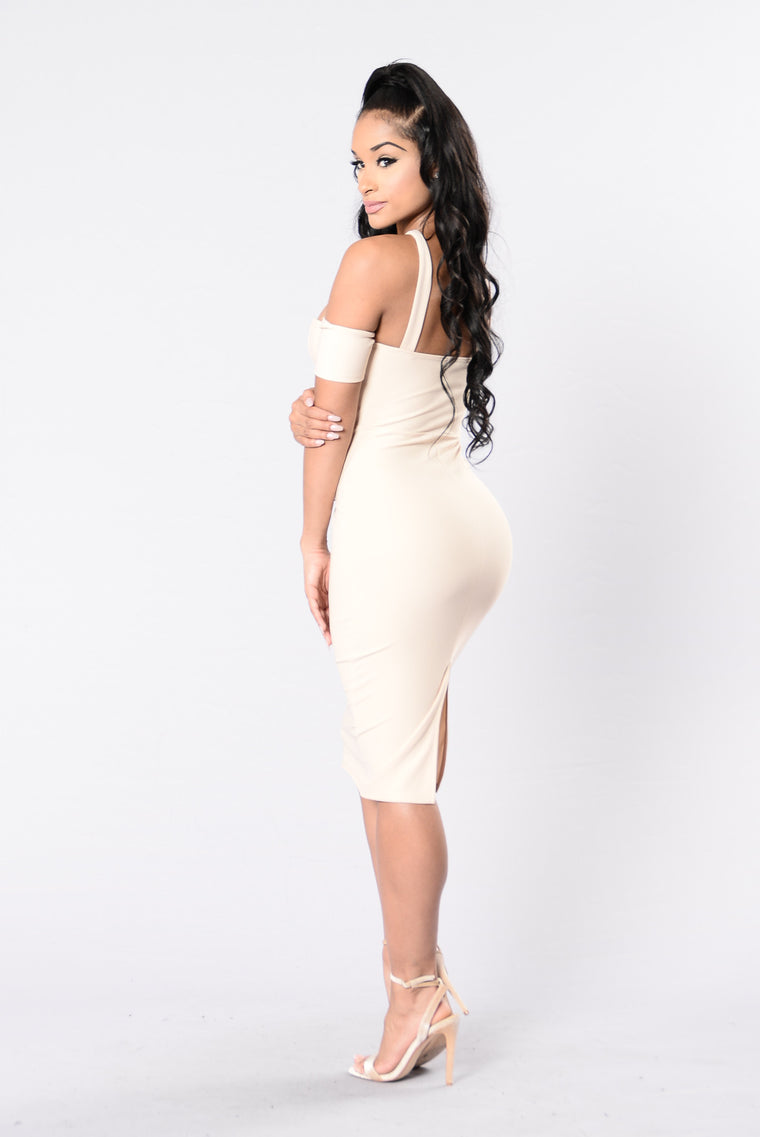 Keep It Underground Dress - Nude