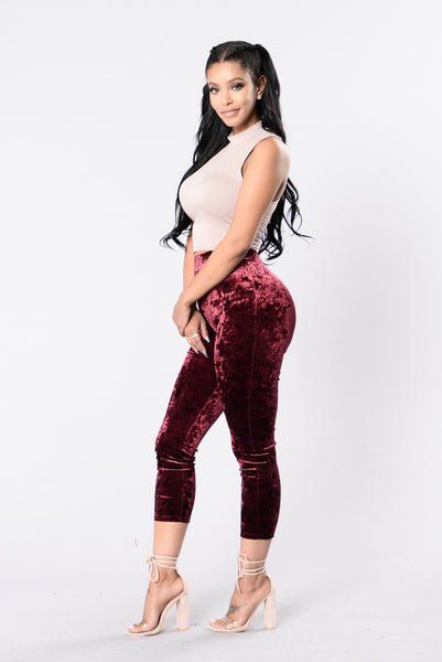 Buttermilk Sky Leggings - Burgundy