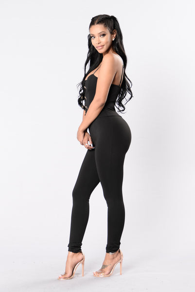 Come Get It Babe Jumpsuit - Black
