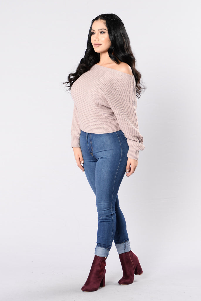 Off Balance Sweater - Dusty Pink