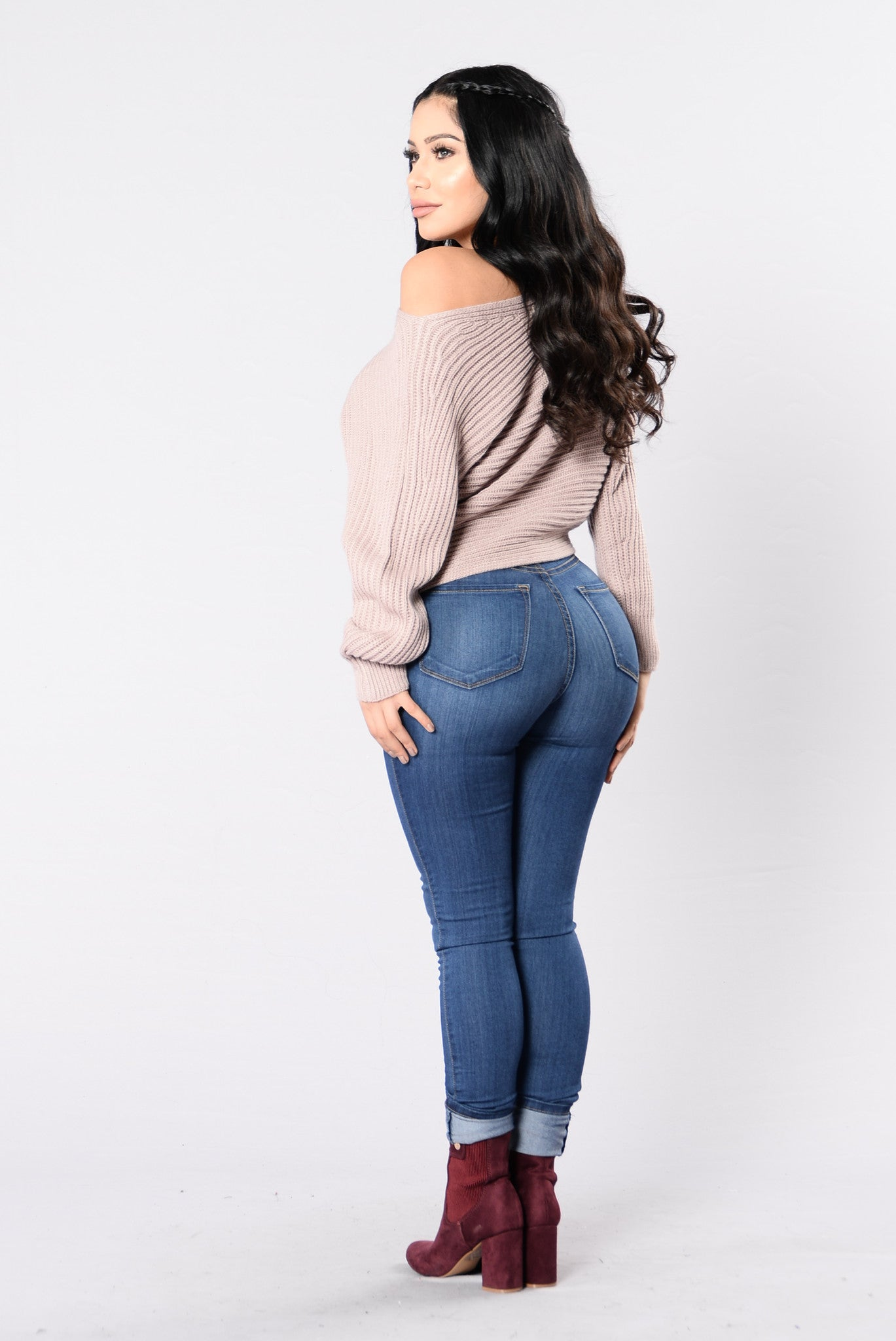 Off Balance Sweater Dusty Pink