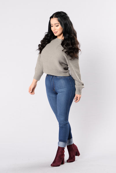 Off Balance Sweater - Taupe