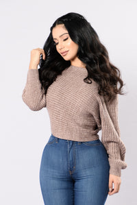 Off Balance Sweater - Heathered Mauve