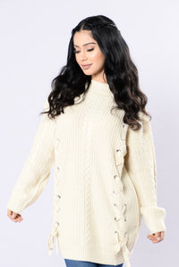 The Formula Sweater - Beige