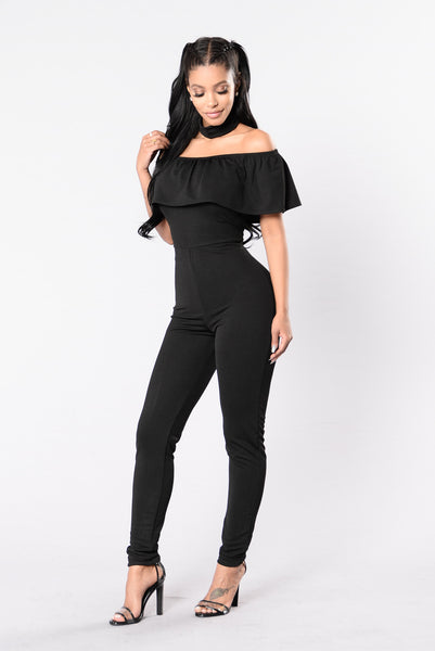 I Need Your Love Jumpsuit - Black