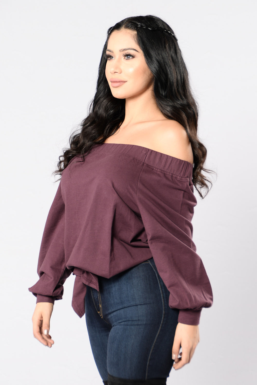 Mystery Machine Top - Deep Mauve