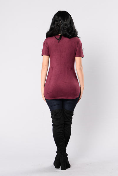 Give Me Shelter Top - Plum