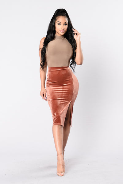 Rise & Fall Skirt - Chocolate