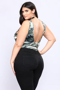 Under Command Velvet Bodysuit - Camo Angle 8
