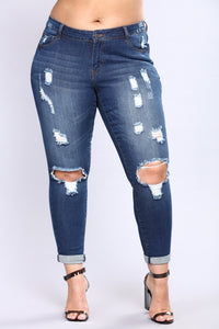 Kneed You Now Skinny Jeans - Dark Denim