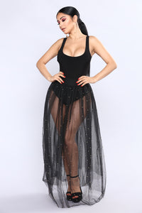 Tulle Much Skirt - Black/Gold Angle 1