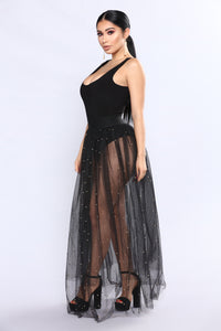 Tulle Much Skirt - Black/Gold Angle 5