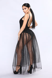 Tulle Much Skirt - Black/Gold Angle 6