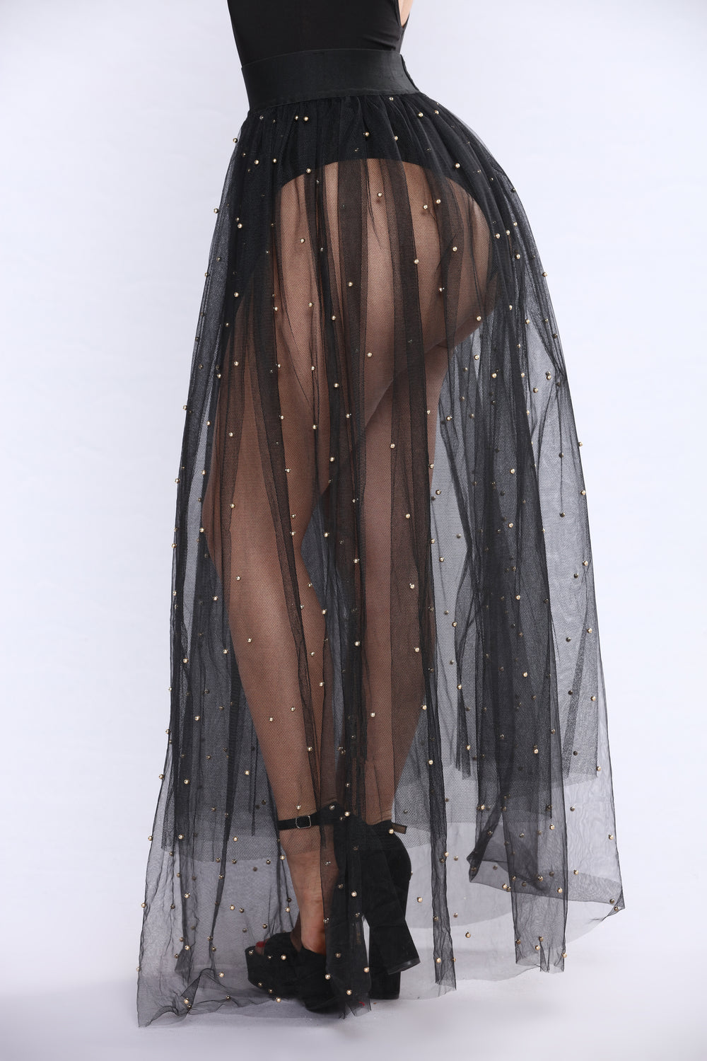 Tulle Much Skirt - Black/Gold