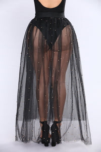 Tulle Much Skirt - Black/Gold Angle 3