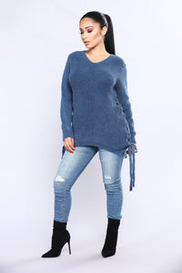 Can't Live Without It Sweater - Teal