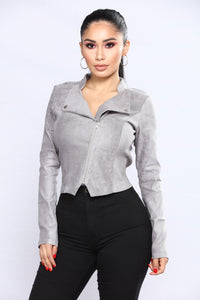 Persuede Me Jacket - Grey Angle 1