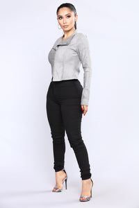 Persuede Me Jacket - Grey Angle 3