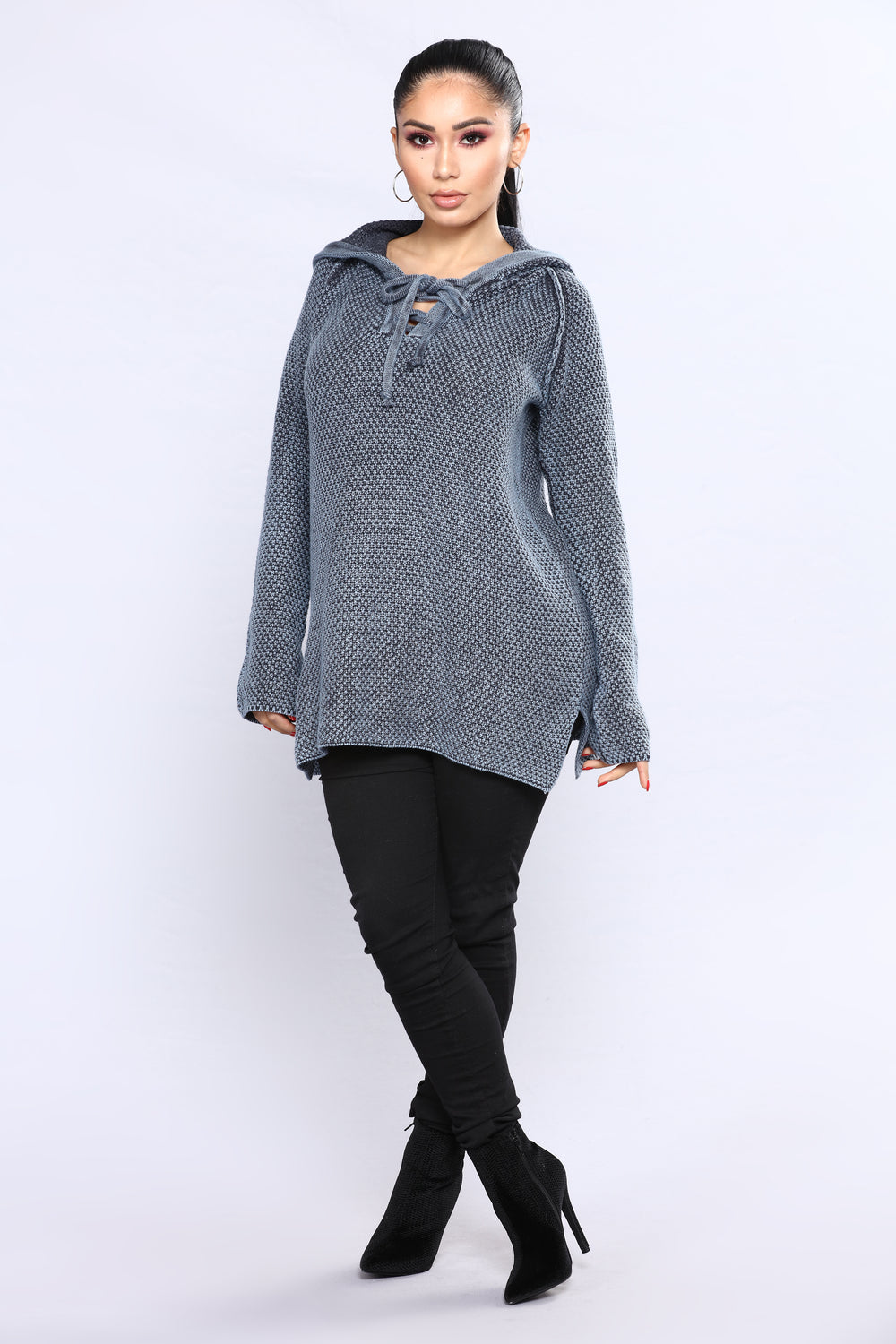 Most Addictive Hooded Sweater - Navy
