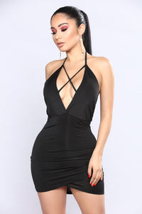 Jeanette Mini Dress - Black