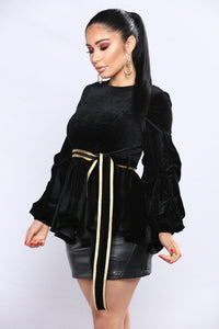Sweet And Bow Top - Black