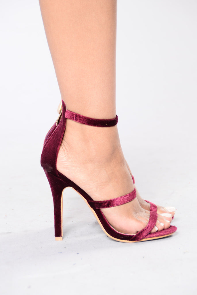 Californication Heel - Wine Velvet