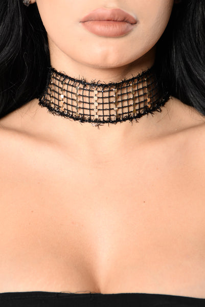 Grid Work Choker - Black