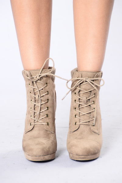 Don't Wanna Know Boot - Taupe