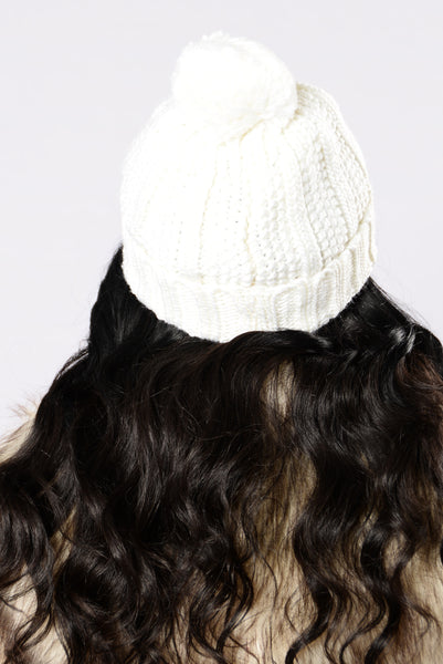 Get Your Head In The Game Beanie - Ivory
