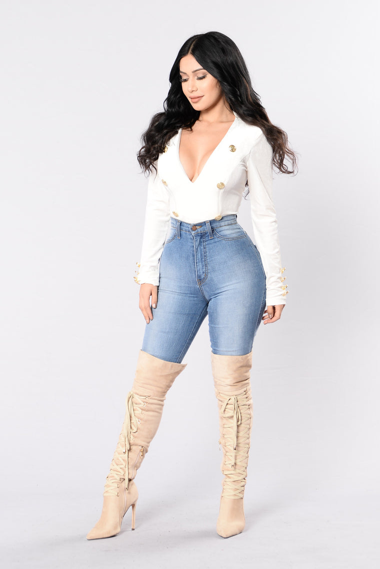 All Hands On Deck Bodysuit - Ivory
