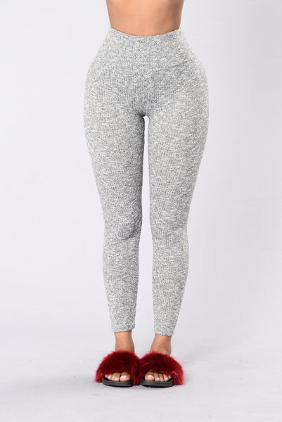 We Should Be Together Leggings - Heather Grey