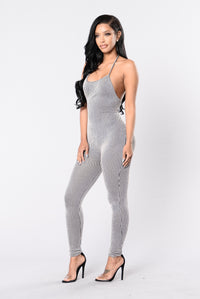 Hey Baby Hey Jumpsuit - Black/White