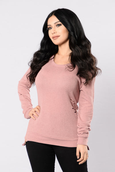 Love Sick Top - Mauve
