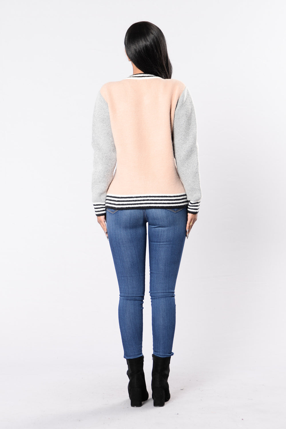 Snap This Jacket - Blush