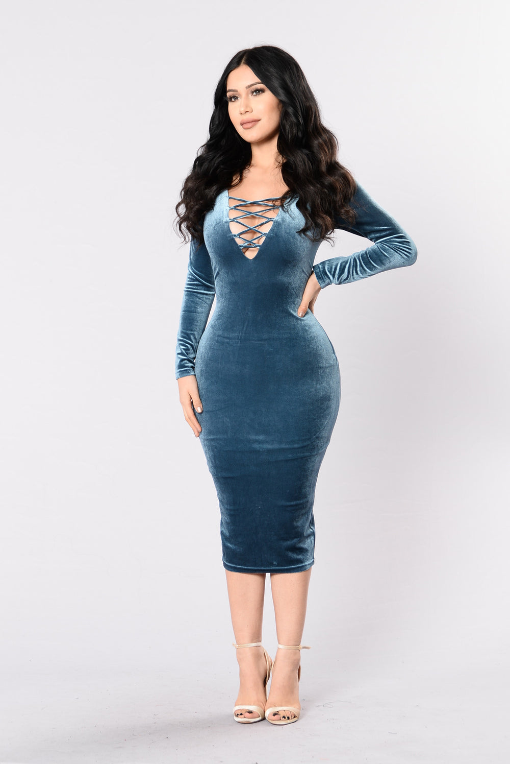 Miss Independent Dress - Teal