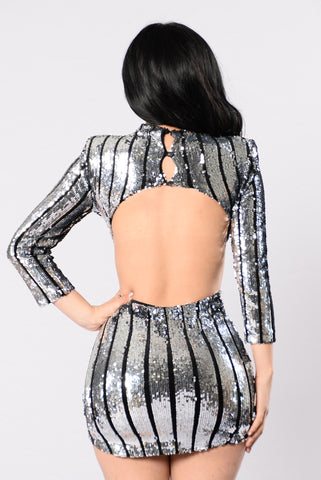 Far From Over Dress - Silver