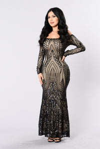 Night Jewel Dress - Black Angle 1