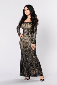 Night Jewel Dress - Black Angle 3