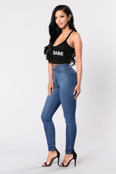 F'N Babe Crop Top - Black