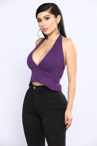 Serving Halter Tank Top - Purple