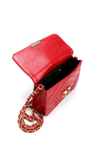 Rock His World Crossbody - Burgundy