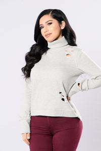 Remember This Girl Top - Heather Grey Angle 1