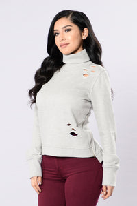 Remember This Girl Top - Heather Grey Angle 3