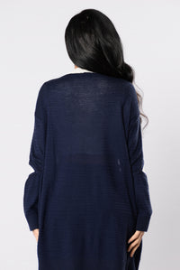 Me Without You Sweater - Navy Angle 3