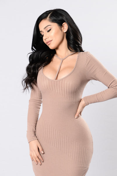 Gloria Dress - Taupe